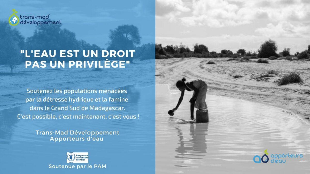 Soutenir la détresse hydrique et la famine a Madagascar